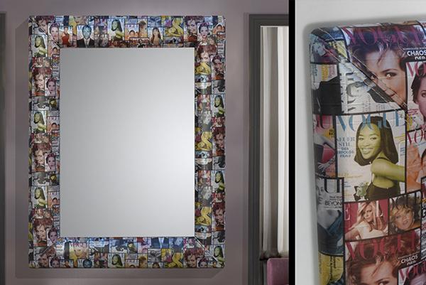 espejo tapizado